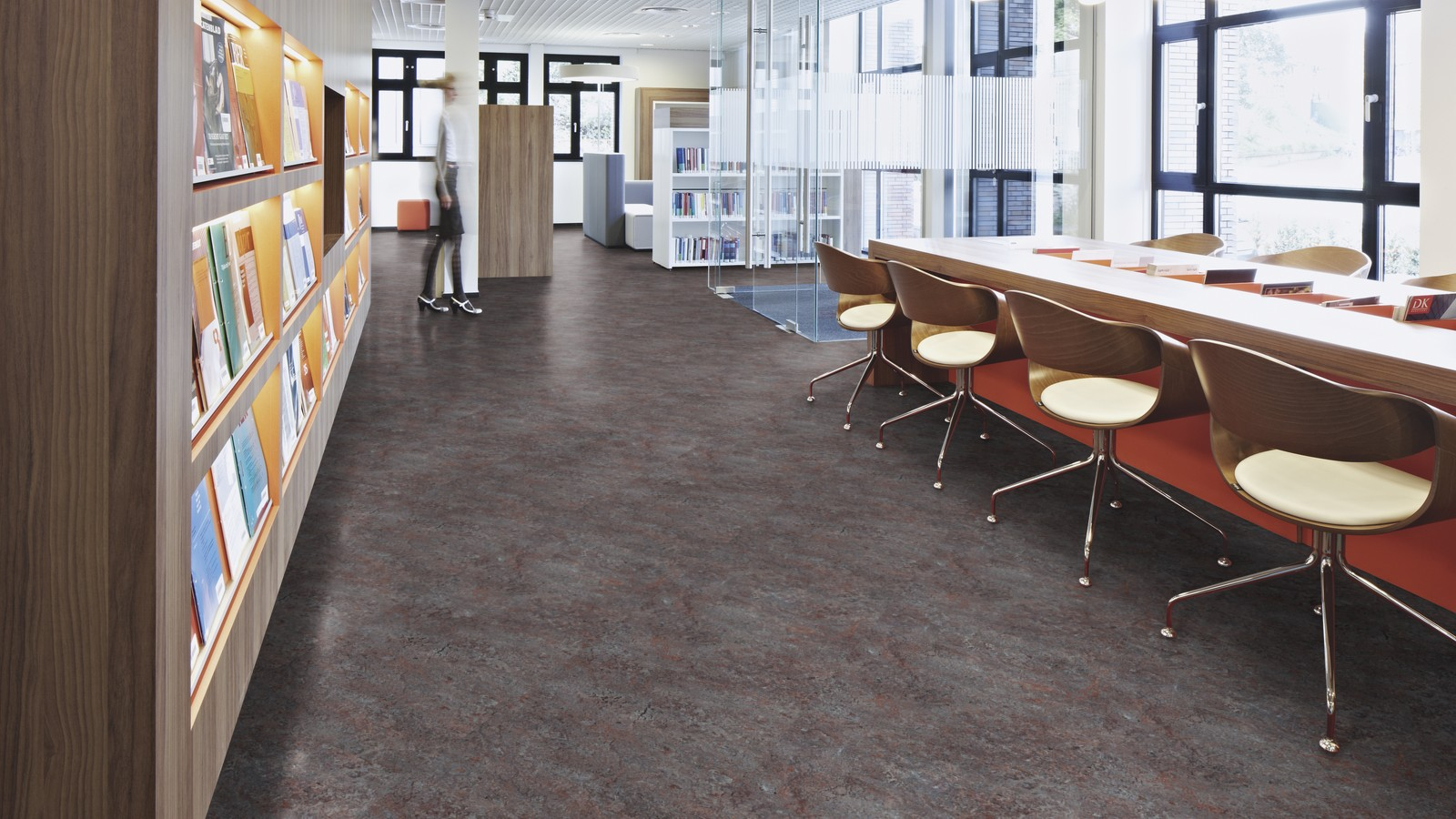 Marmoleum Vivace in the design of office